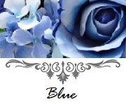 青色のシルクフラワーでお作りしたウエディングアイテム