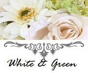 白色のシルクフラワーでお作りしたウエディングアイテム