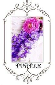 紫色の造花で作ったウエディングブーケ
